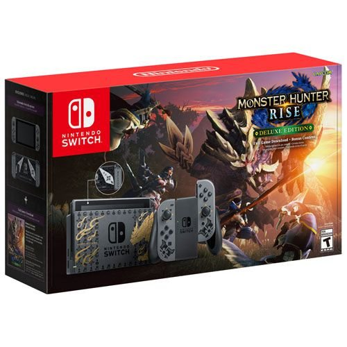 Console Novo Switch Monster Hunter Rise Deluxe Edition