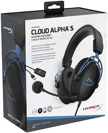 Headset Novo HyperX Cloud Alpha S 7.1 PC/PS4 Com Fio