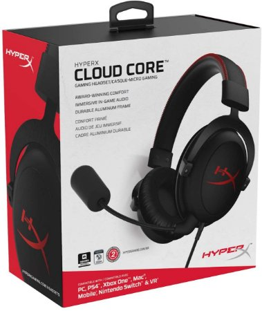 Headset Novo HyperX Cloud Core PC/PS4/Xbox One/Switch Com Fio