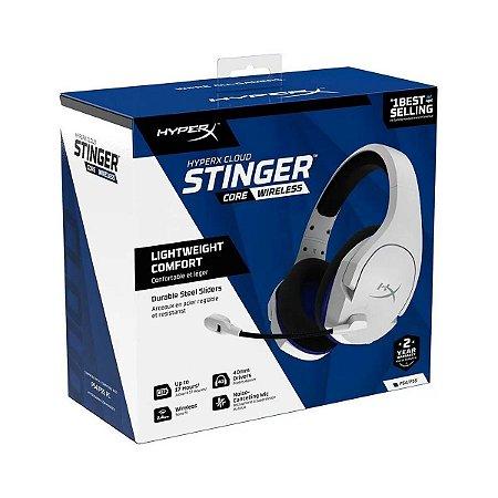 Headset Novo HyperX Cloud Stinger Core Wireless PS4/PS5 Branco