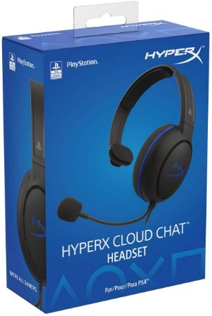 Headset Novo HyperX Cloud Chat PS4