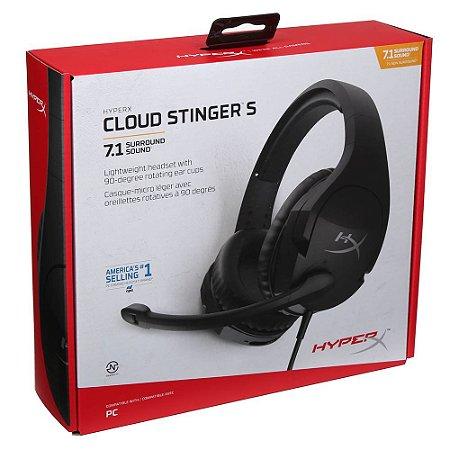 Headset Novo HyperX Cloud Stinger S 7.1 PC