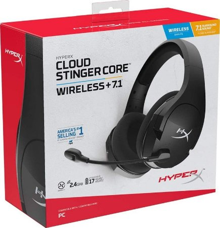 Headset Novo HyperX Cloud Stinger Core 7.1 PC Sem Fio