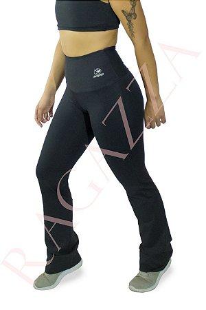 Calça Legging Flare Cintura Alta - Bailarina Preta