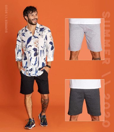 Bermuda Short Masculino Moletom