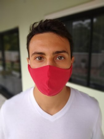 Máscara Tecido Duplo - Vermelho