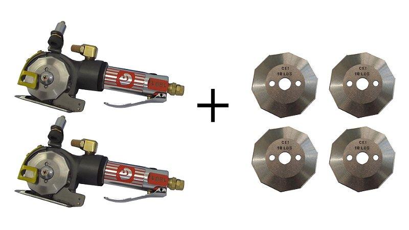 Kit 2 Máquinas De Corte Pneumáticas 2,5'' + 4 Discos - Osmaq