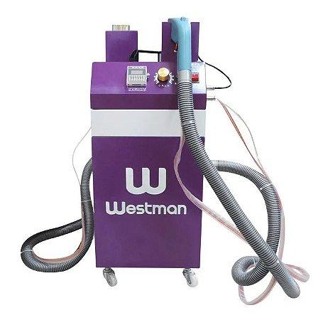 Maquina de cortar e arrematar fios e linhas 2 cabeças Westman