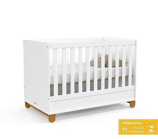 Berço de Bebê Zupy Branco Soft Eco Wood Matic