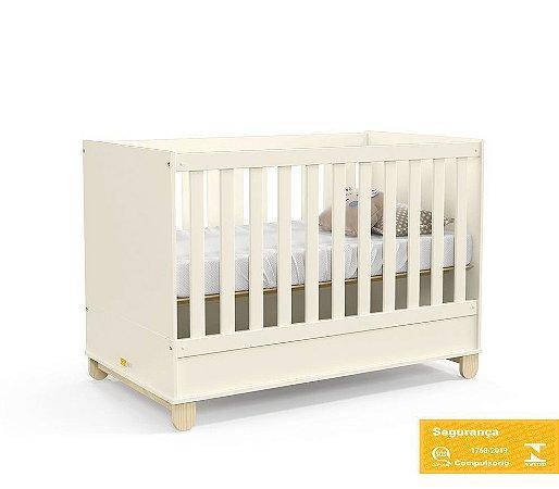 Berço de Bebê Zupy Off White Natural Matic