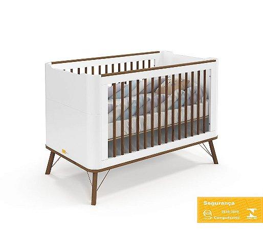 Berço de Bebê Albi Branco Soft Eco Wood Matic