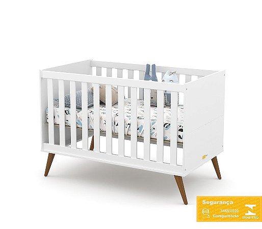 Berço de Bebê Gold Branco Soft Eco Wood Matic