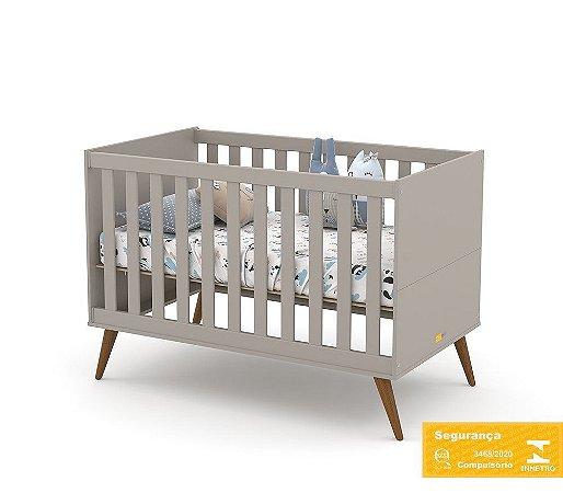 Berço de Bebê Gold Cinza Eco Wood Matic