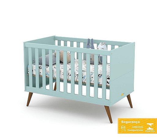 Berço de Bebê Gold Menta Eco Wood Matic