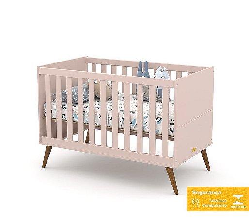 Berço de Bebê Gold Rose Eco Wood Matic