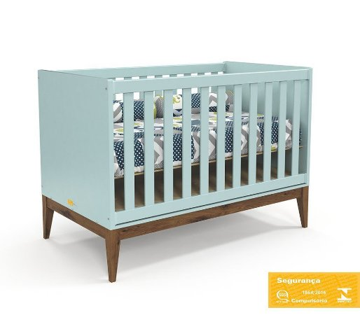 Berço de Bebê Nature Menta Eco Wood Matic