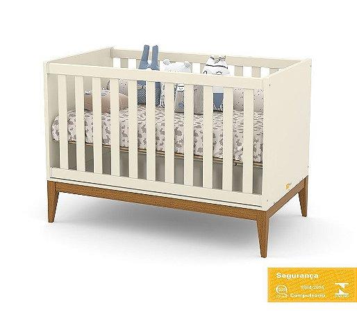 Berço de Bebê Nature Off White Eco Wood Matic