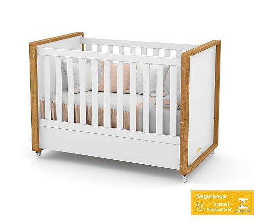 Berço de Bebê Tutto New Branco Soft Freijó Matic