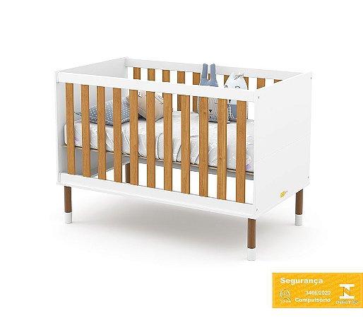 Berço de Bebê Up Branco Soft Freijó Matic
