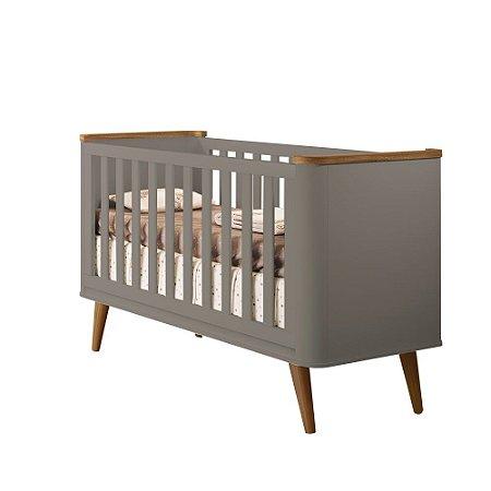Berço de Bebê Confort Cinza Puppi Mobile