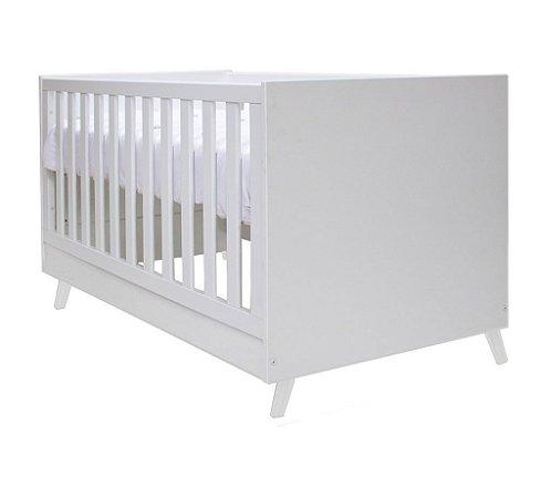 Berço de Bebê Kim Branco Pés Branco Puppi Mobile