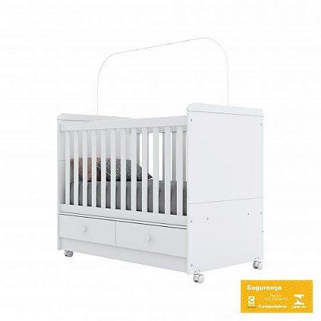 Berço de Bebê Aquarela Branco Henn