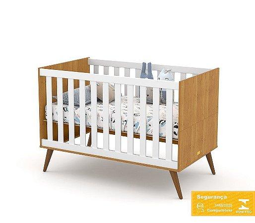Berço de Bebê Gold Freijó Branco Soft Eco Wood Matic