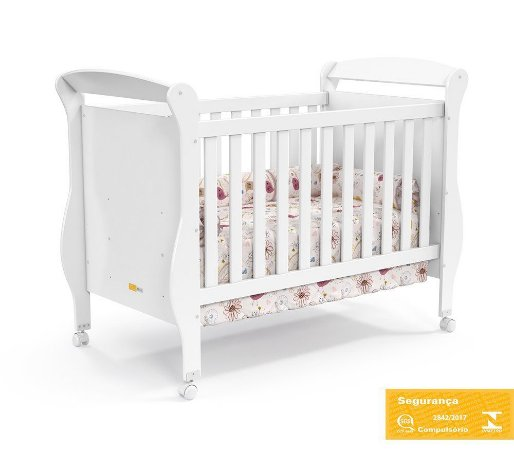 Berço de Bebê Smart Branco Brilho Matic