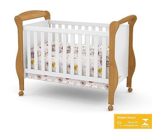 Berço de Bebê Smart Branco Soft Freijó Matic