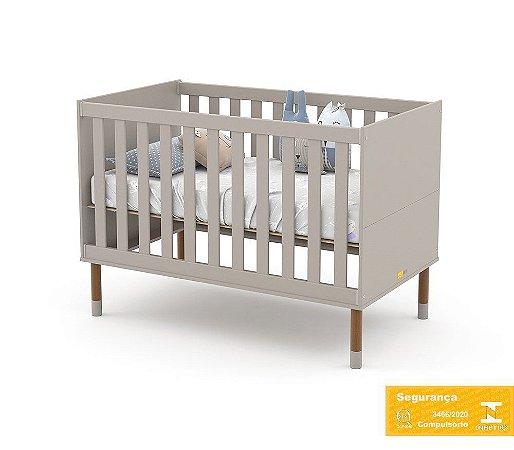 Berço de Bebê Up Cinza Eco Wood Matic