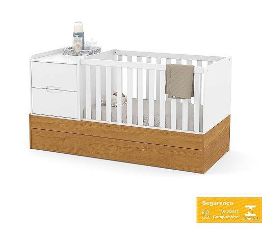 Berço de Bebê Formare Branco Soft Freijó Matic