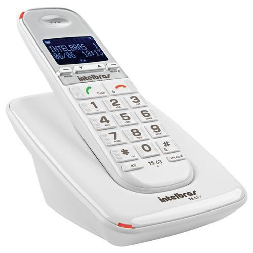 Telefone Sem Fio Digital TS 63 V Intelbras