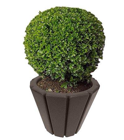 Vaso De Planta Polietileno Jardim Varanda Listra Cd05