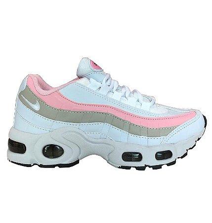 air max 95 rosa e branco