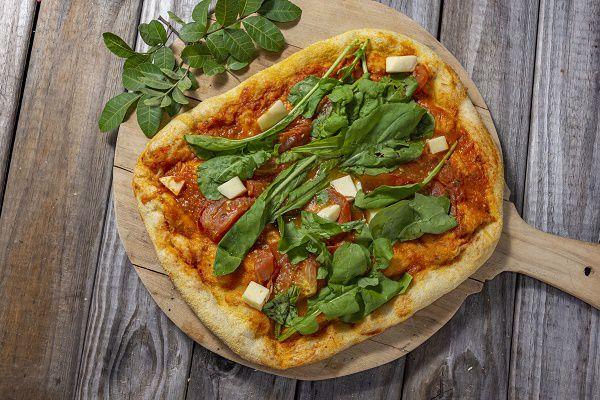 Pizza Levain Tomate Com Rúcula Grande