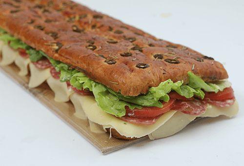 Sanduiche Focaccia de Azeitonas pequeno