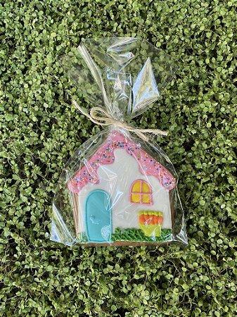 Kit com 3 Biscoitos com formato de Casa decorada 70g