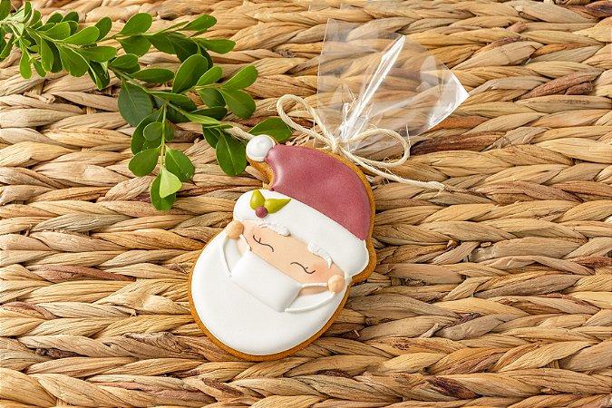 Biscoito Gengibre Papai Noel com Máscara