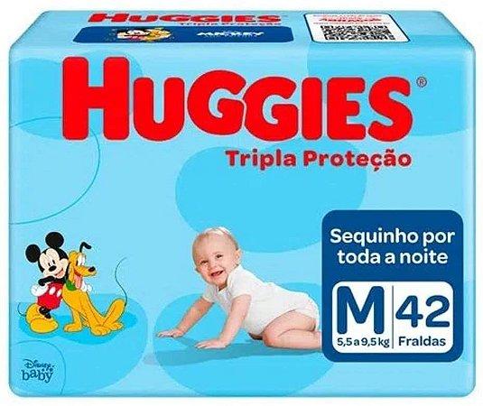 FRALDA HUGGIES TRIPLA PROTEÇÃO M C/42 UNIDADES