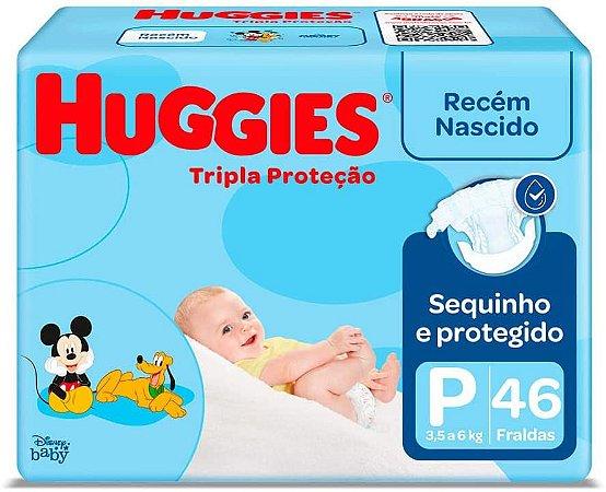 FRALDA HUGGIES TRIPLA PROTEÇÃO P C/46 UNIDADES