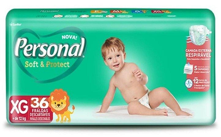 FRALDA PERSONAL BABY SOFT & PROTECT XG C/36 UNIDADES