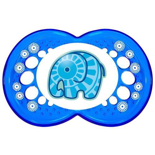 Chupeta Mam Clear (6+ Meses) - Azul - Elefantinho
