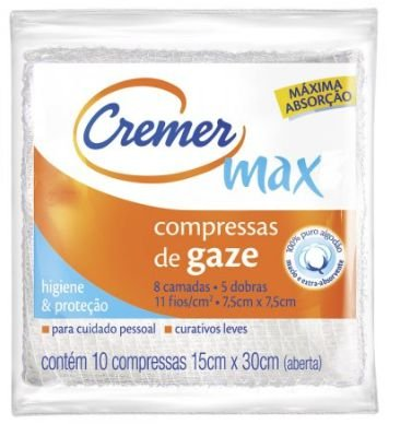 COMPRESSA GAZE ESTERIL CREMER C/10 UNIDADES