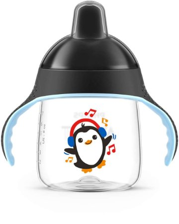 Copo Avent Pinguim 260Ml Preto Neutro