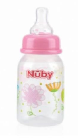 MAMADEIRA BICO NORMAL NÛBY ROSA 120ML