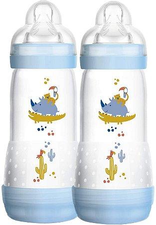 Mamadeira Mam Easy Start - 320Ml (4+ Meses) - Embalagem Dupla - Azul