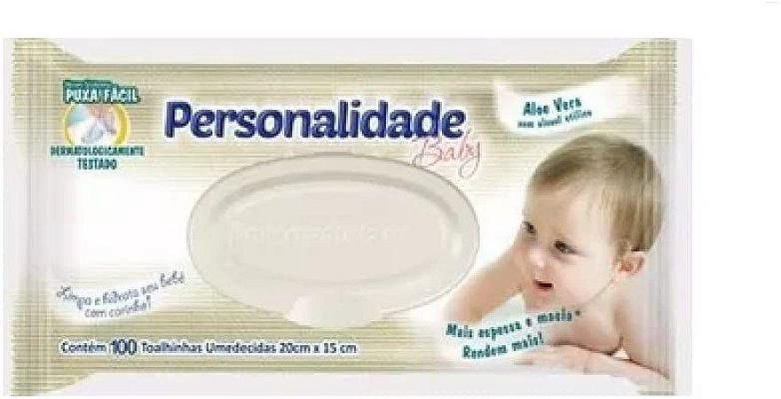 TOALHA UMEDECIDA PERSONALIDADE C/ TAMPA C/100 UNIDADES