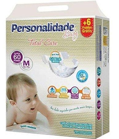 FRALDA PERSONALIDADE BABY TOTAL CARE M C/60 UNIDADES