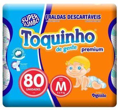 FRALDA TOQUINHO CONFORT SEC M C/80 UNIDADES