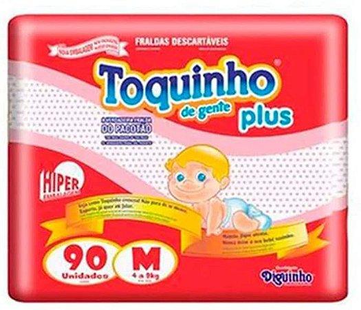 FRALDA TOQUINHO PLUS HIPER M C/90 UNIDADES